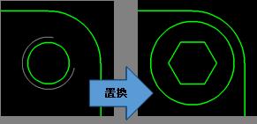 機械要素部品の置き換え機能