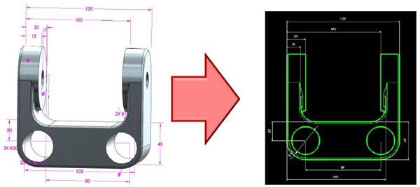 3Dアノテート寸法線配置機能